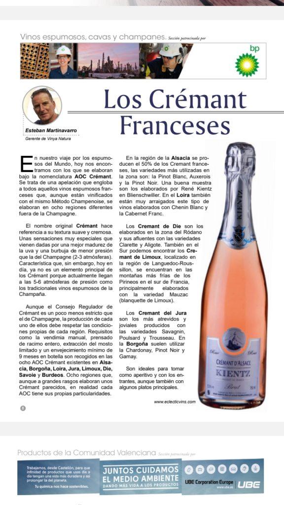 Crémants d'Alsace en Espagne
